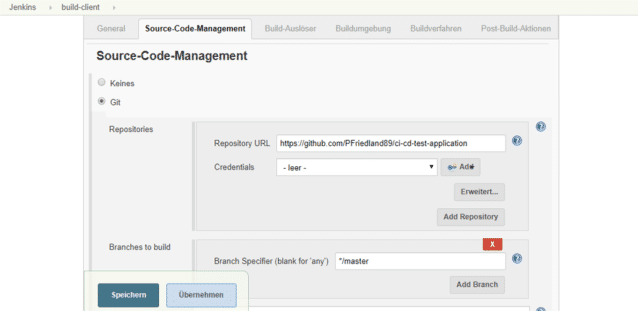 Source-Code-Management in Jenkins