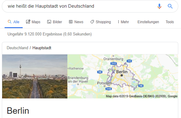 What is the capital of Germany - Google Ranking Factors