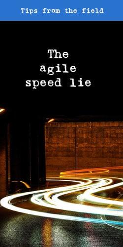 The agile speed lie - t2informatik Blog