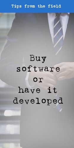 Buy software or have it developed - t2informatik Blog