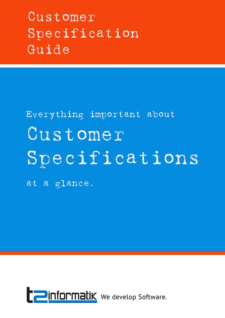 Customer Specification Guide as Download