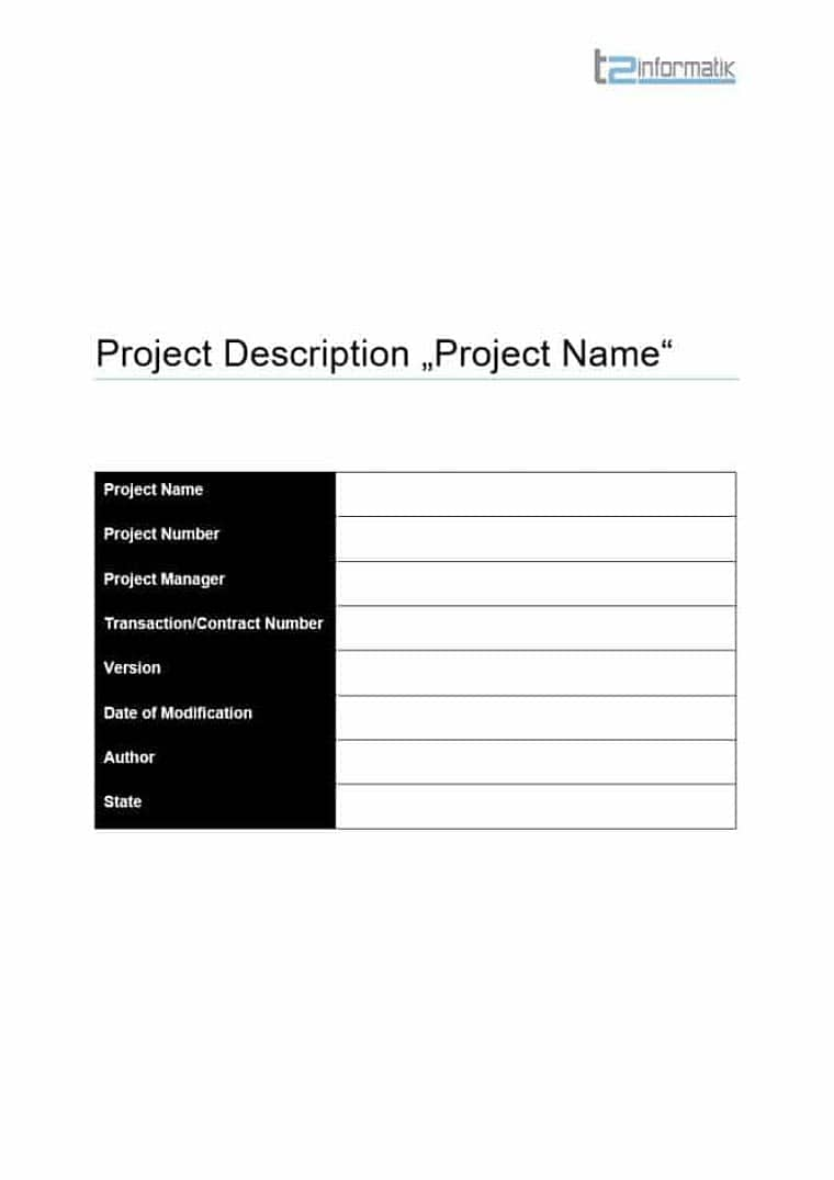 Project Description Template for free