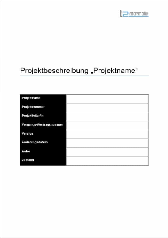 Projektbeschreibung Vorlage Download