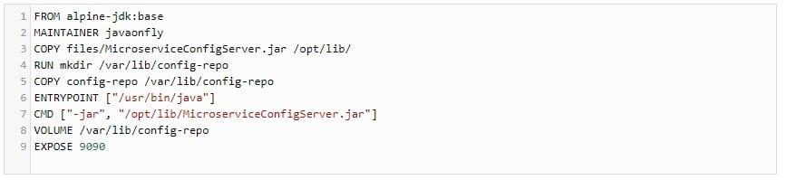 Dockerfile Configserver - Teil 2