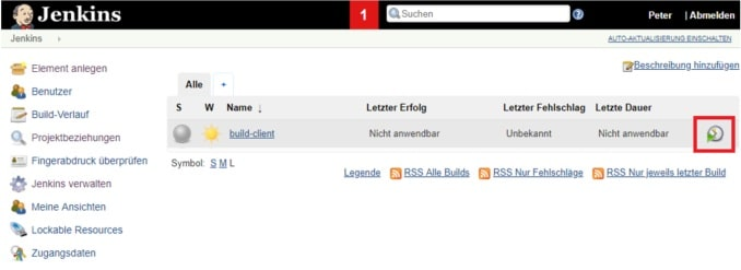 Build triggern in Jenkins