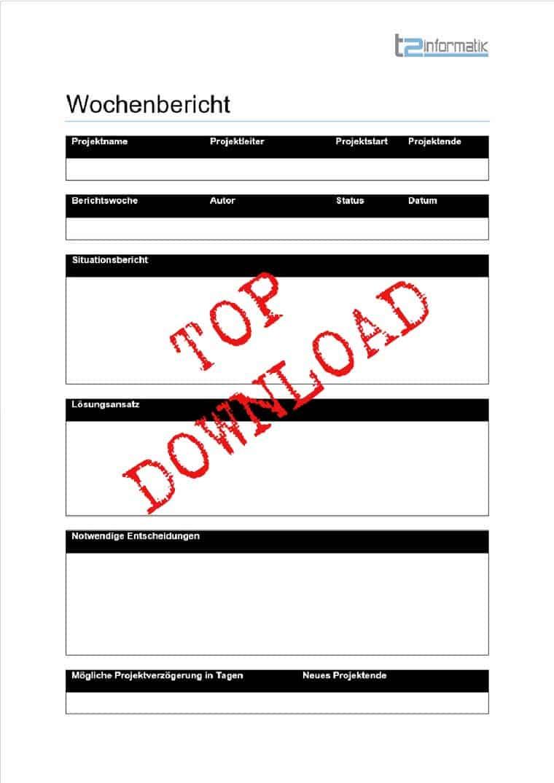 Wochenbericht Vorlage als Download