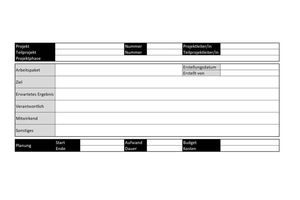 Wissen kompakt: Was sind typische Eigenschaften von Arbeitspaketen?