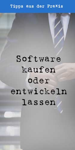 Software kaufen oder entwickeln lassen - t2informatik Blog
