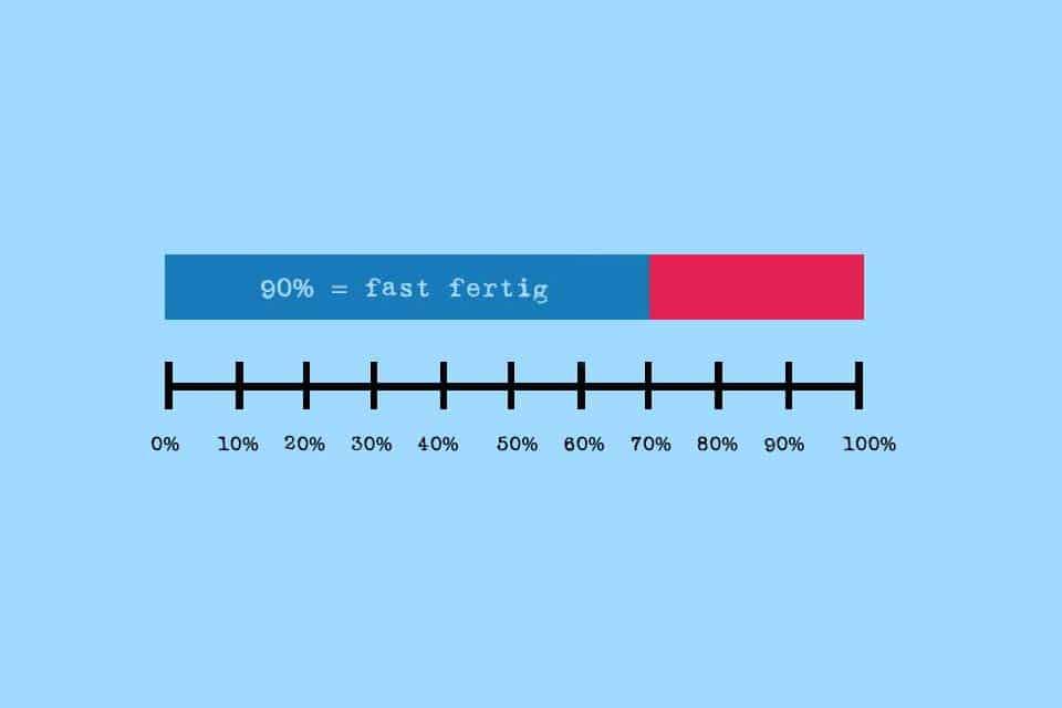 Wissen kompakt: Was ist das 90%-Syndrom?