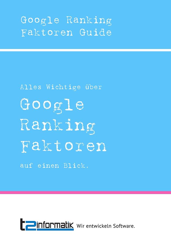 Google Ranking Faktoren Guide als Download