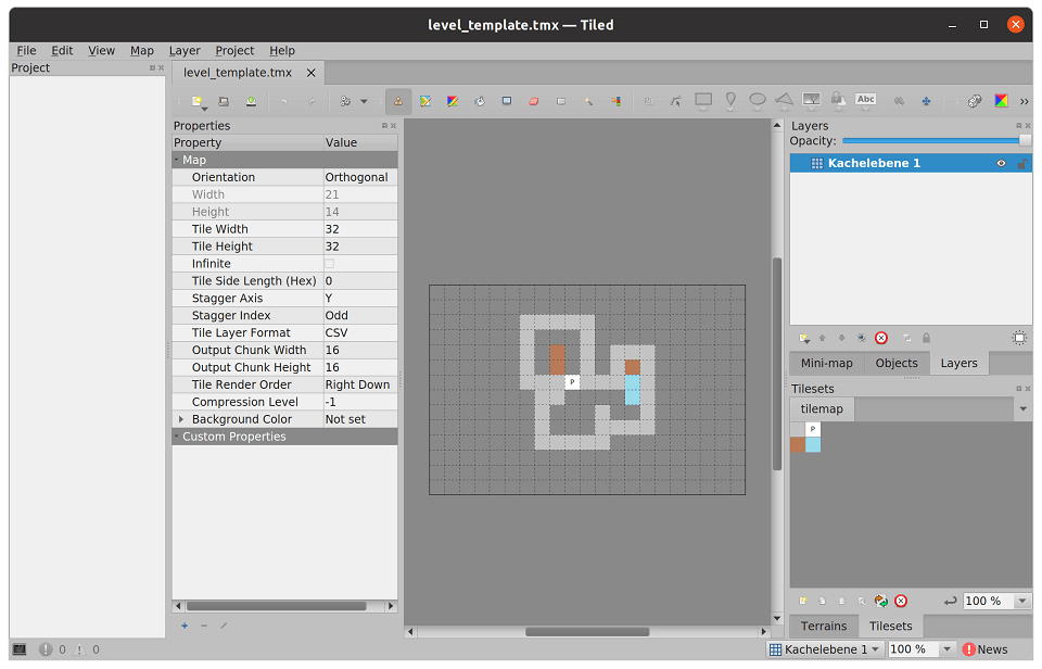 Tile Set im Tiled Map Editor